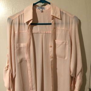 Pale pink Express Portofino shirt